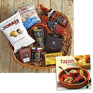 Gathering of Friends Basket plus 'Tapas: Delicious Little Dishes' Book
