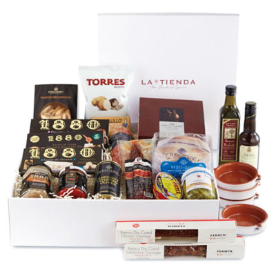 Spanish Celebration Basket plus 'Tapas: Delicious Little Dishes' Book