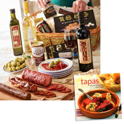 Feast of Spanish Flavor Basket and Tapas Recipe Book