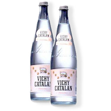 2 Bottles of Vichy Catalan Mineral Water