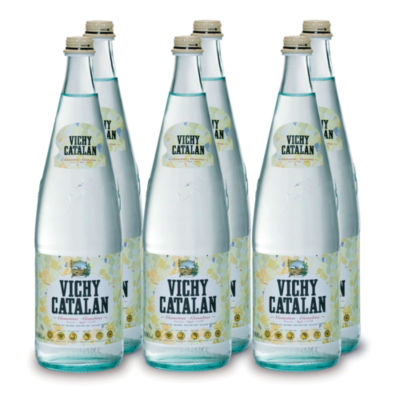 6 Bottles of Vichy Catalan Sparkling Spring Water