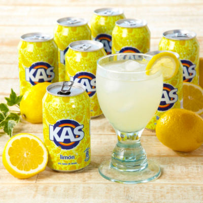 8 Cans of KAS Limon Soda