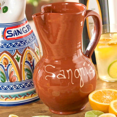 Terra Cotta Sangría Pitcher