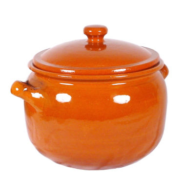 Classic Terra Cotta Olla Stewing Pot or Storage Jar