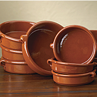 4.5 Inch Terra Cotta Cazuelas (4 Dishes)