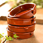 Terra Cotta Cazuelas - 6 Inches (4 Dishes)
