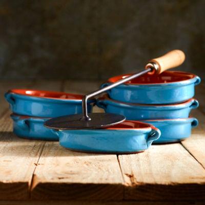 Mediterranean Blue Crema Catalana Dessert Set