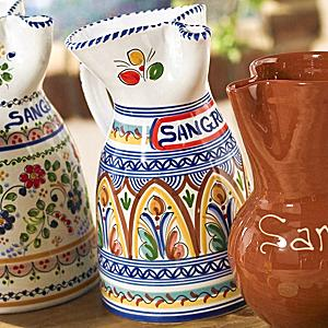 Hand Painted Ceramic Sangría Pitcher