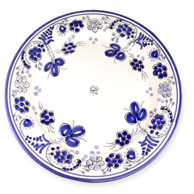 Blue Flor Plate - 11 Inches