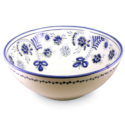 Large Blue Puente Serving Bowl - 11 Inches Wide
