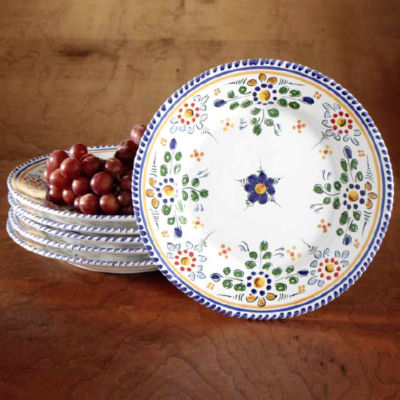 Set of Four Salad / Lunch Plates - 9.5 Inches Each