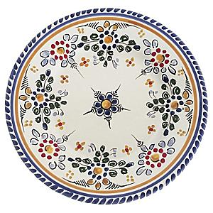 Tapas Plate, 'Flor' Design - 7 Inches