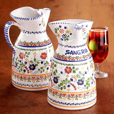 Sangría Pitcher - Colorful 'Flor' Design
