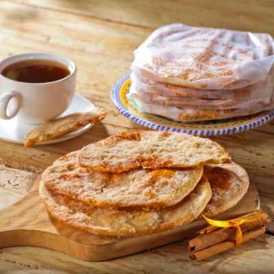 Cinnamon & Sugar Tortas de Aceite Crisps by Ines Rosales (2 Packages)