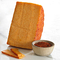 Smoked Paprika Infused Goat's Milk Cheese