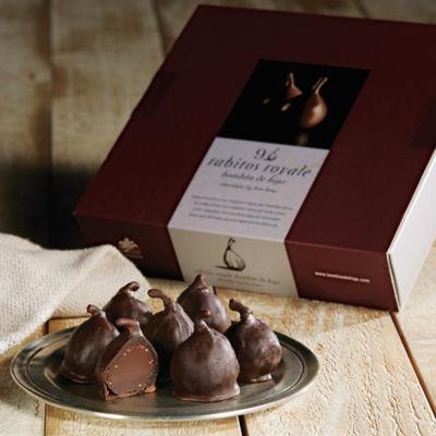Rabitos Royale Gourmet Dark Chocolate-Stuffed Fig Bonbons (9 Pieces)