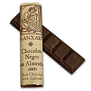 Dark Chocolate Bars with Almonds by Blanxart (3 Bars)