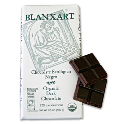 2 Bars of Organic Dark Chocolate by Blanxart