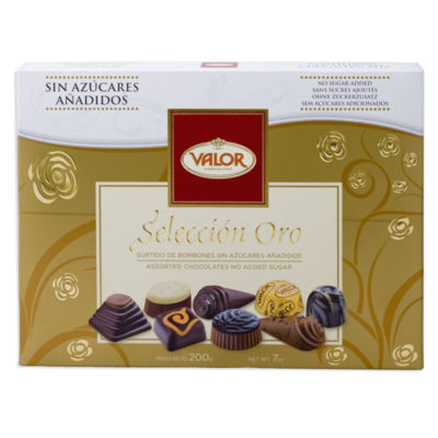 Gold Selection Sugar Free Chocolate Bonbons Gift Box by Valor