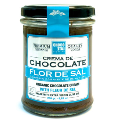 Chocolate Hazelnut Spread with Sea Salt by Orgániko (2 Jars)