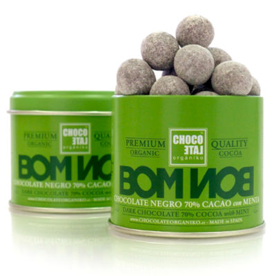 2 Tins of Dark Chocolate Mint Bonbons by Orgániko