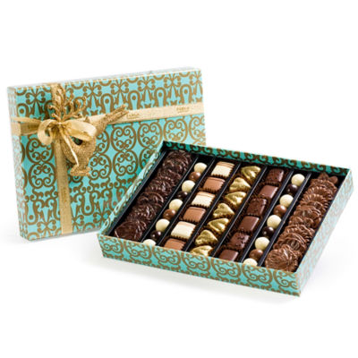 Turquoise Bouquet Gift Box by Farga