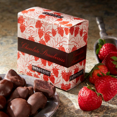 2 Boxes of Whole Strawberries Dipped in Dark Chocolate