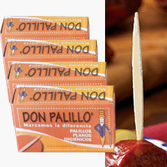 'Don Palillo' Flat Spanish Toothpicks (4 Boxes)