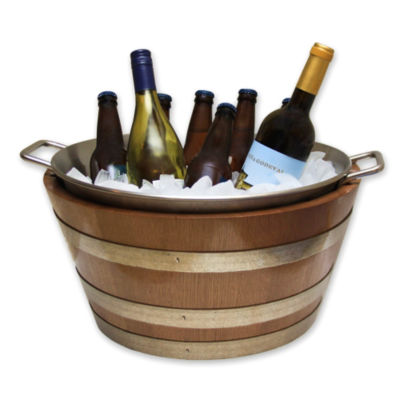 Handcrafted Oak Wine Barrel Ice Bucket