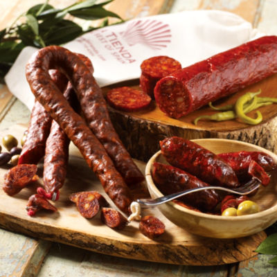 Chorizo Sampler in Burlap Bag