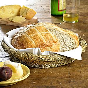 Round Bread Basket - Handwoven Esparto Grass