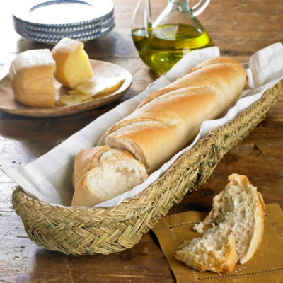Long Bread Basket - Handwoven Esparto Grass