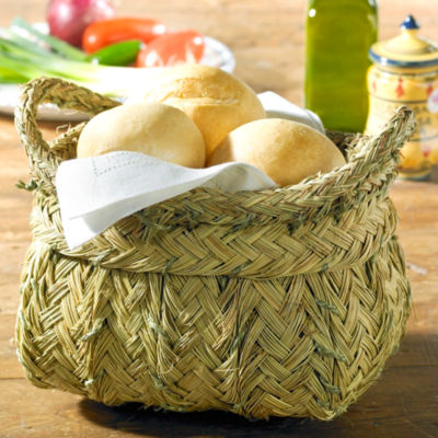 Classic Basket with Handles - Handwoven Esparto Grass