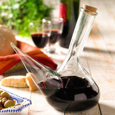 Glass Porrón Wine Pitcher