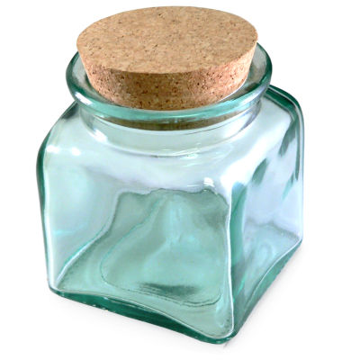 Blown Glass Storage Jar