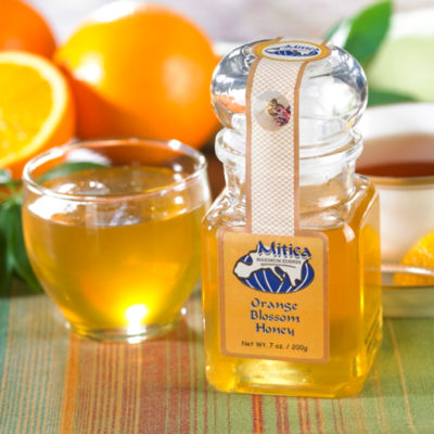 Orange Blossom Honey by Mitica (2 Jars)