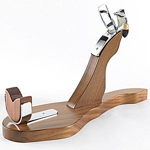 Deluxe Solid Hardwood Ham Holder - 'Salamanca'