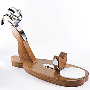 Supreme Hardwood Ham Holder with Swivel Grip - 'Ibérico'
