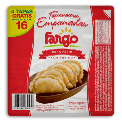 Empanada Shells for Frying (2 Packages)