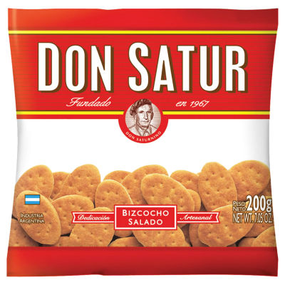 Bizcocho Salado - Argentine Salty Crackers by Don Satur (4 Packages)
