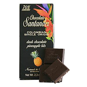 Chocolate Santander Dark Chocolate and Pineapple Bar (2 Bars)