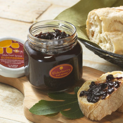 2 Jars of Elderberry Whole Fruit Spread
