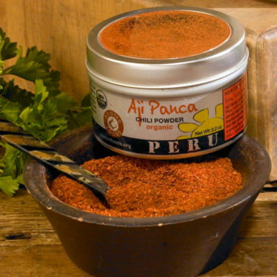 2 Tins of Organic Aji Panca Chili Powder