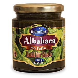 Albahaca en Pasta -  Basil Paste for Pesto by Belmont (3 Jars)
