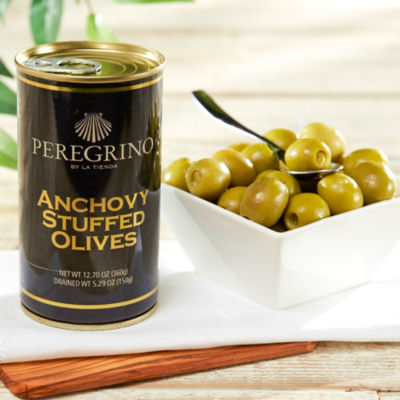 Anchovy Stuffed Olives by Peregrino - 'Extra' Quality (2 Tins)