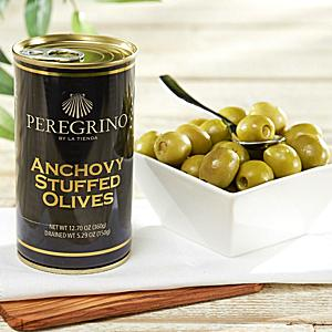 Anchovy Stuffed Olives by Peregrino - 'Extra' Quality (4 Tins)