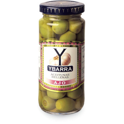 Garlic Stuffed Olives by Ybarra (2 Jars)