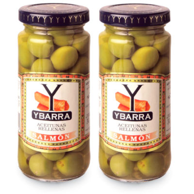 2 Jars of Salmon Stuffed Olives by Ybarra