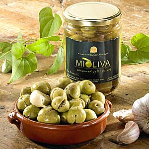Fresh Cracked Olives in Garlic & Herb Marinade (2 Jars)