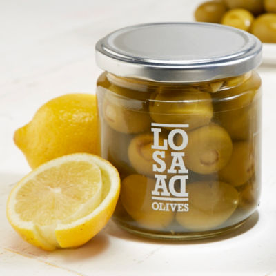 2 Jars of Gordal Olives Stuffed with Lemon Peel